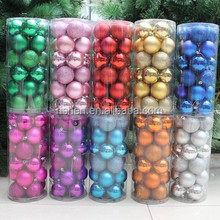 barrelled various styles shiny plastic christmas ball popular plastic christmas ornaments in bulk