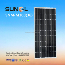 best price power 100w solar panel for 12V home use