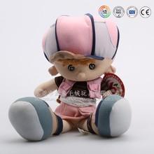 Asian plush toys factory custom made fat baby mascot doll