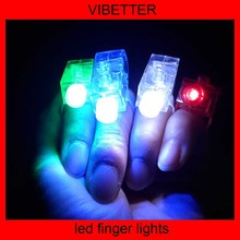 black elastic band led finger light 4 color laser led finger light
