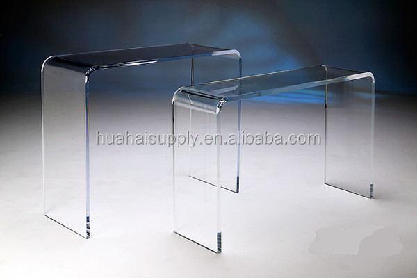 Design de m veis para casa moderna mesa lateral console de mesa de acr lico transparente de - Console transparente design ...