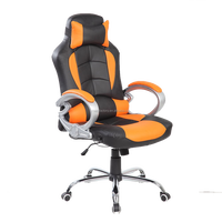 Luxury 2015 orange+green massive leather office chair / spcial design sports office chair