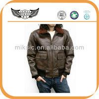 wear well classic man's custom sheepskin bomber jacket
