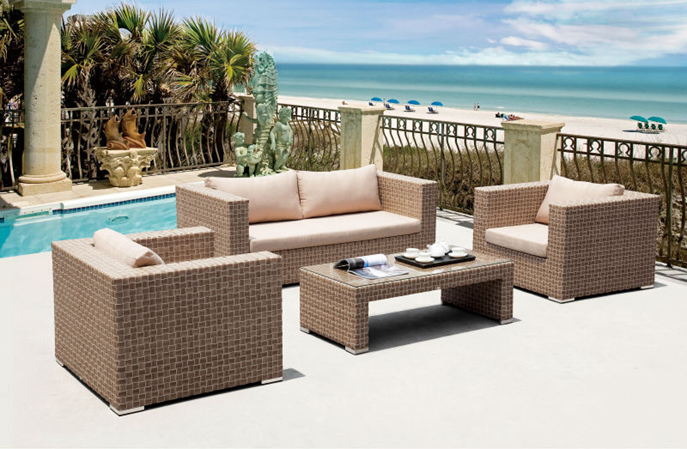 Design moderne en rotin sofa sectionnel ensemble en plein air meubles ...