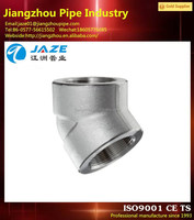 high pressure stainless steel degree 45 elbow npt thread pipe fitting