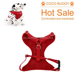 Soft Comfortable beautiful Red Color pet supplies mesh dog harness