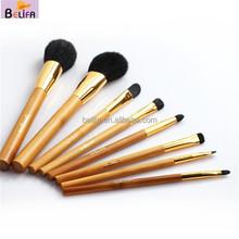 Travel Size Personalized makeup brush set kit cute makeup brush bags