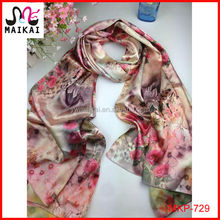 Wholesale fashion floral printed polyester south africa scarf