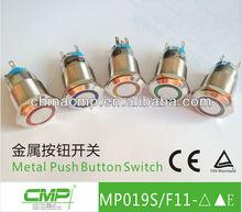 CMP waterproof 19mm metal IP67 illuminated mini push button switch