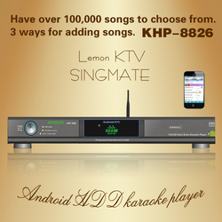 Android HD Karaoke product with HDMI 1080P ,Select songs via iPhone/Android phone ,build-in AGC/AVC