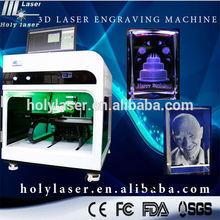 Imágenes de cristal máquina de grabado láser para los regalos de la tienda