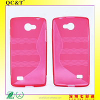 2015 Flexible Soft phone case red color S Line TPU Cover for LG Lancet/VW820
