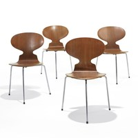 Modern Arne Jacobsen ant chair stackable plywood dining chair