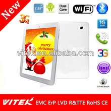 OEM Manufacturing 7.85 inch 3G Dual Core Tablet MID Pad