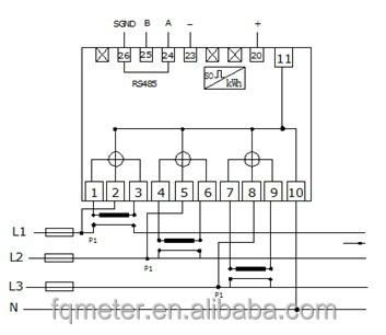 wholesale em535 modbus five modular three phase watt hour meter smart electric meter 3 230 400v