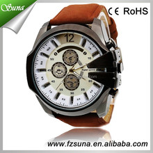 China Alibaba Sell Well Best Gifts V6 Branded Men Leather Watches for Man