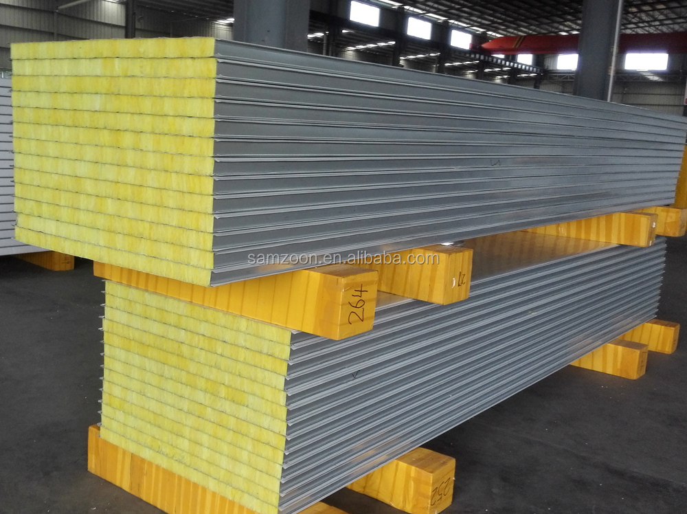 Fireproof Metal Panels : Fireproof and insulated metal faced fiber glass wool