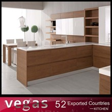 Easy fitted parallel shaped wood veneer pantry cupboard