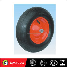 china small pneumatic rubber wheel 4.00-8 with metal rim