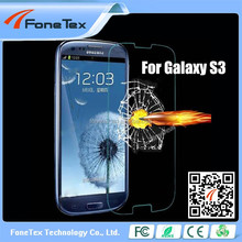 Retail packing screen protector round edge glass screen protector for samsung s3 Japan material 9H hardness