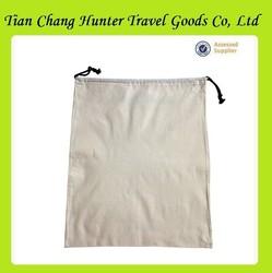 Factory price washable plain canvas cotton shoe bag for hotel