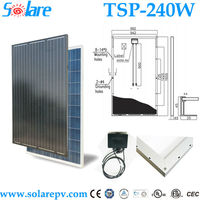 High power Poly solar PV panel 240Watt 30V for home system