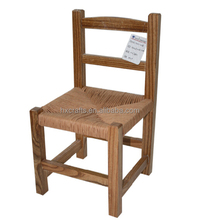 Latterback Woven Rush Seat Rustic Wooden Chair