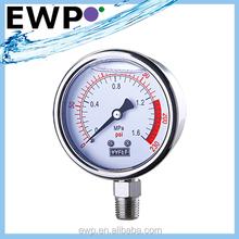 0-300psi Panel mount hydraulic pressure gauge
