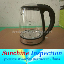 Electric Kettle During Production Inspection and Pre-Shipment Inspection - Sample Report -Inspection Certificate