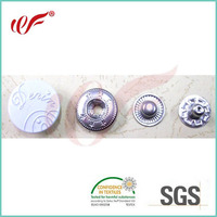 cute metal snap fasteners in white cap for jackets/Garment