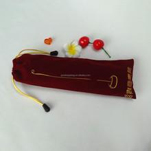 wholesale large drawstring custom velvet bag for gifts