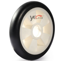 """10"""" Hand trolley rubber wheel with ball bearing"""
