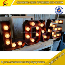 direct manufacturer of love letter light for wedding