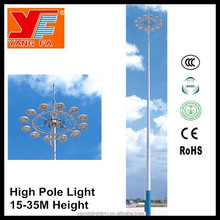 led high mast light pole for airport highway square basketball court
