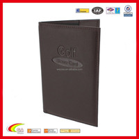 2015 Most Popular Wholesale Golf Leather Score Card Holder with Pencil