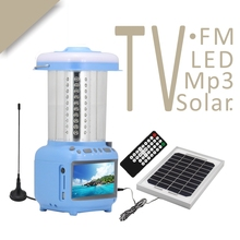 Portable CHL village green solar lights with TV and fm radio