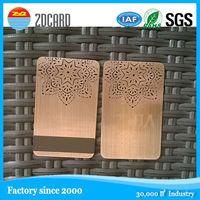 Beautiful design customized size silk print laser metal visiting card china