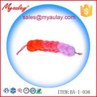 2015 Factory wholesale red gradient color bathroom Exfoliation back scrubber brush BA-I-036