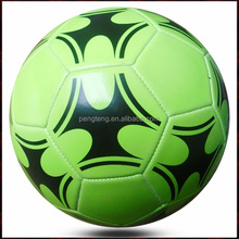 official size 5 pvc glow in the dark promotion fluorescent soccer ball