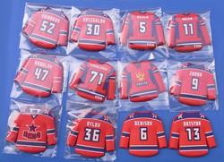 hot selling hockey shirt shape soft pvc fridge magnets for souvenir