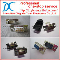 D-sub connector male female 9 15 25 26 37 44 50 62 68 78 pin 2row 3row solder CUP IDC right angle ROHS