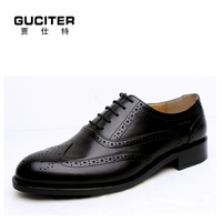 Goodyear shoes brown British wind block of carve patterns or designs woodwork handmade shoes fashion Blake mens shoes