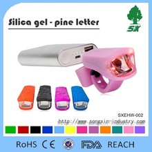 Promotion mini silicone Cover 3W Led Bicycle light/USB Rechargeable led silicone bicycle safety light