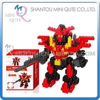 Mini Qute DIY super hero robot boys Diamond nano plastic cube building blocks bricks cartoon models educational toy NO.BY 8307