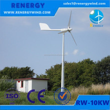 Wind power generator system for on and off grid housing developments