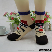 wholesale women style pattern girl cotton cartoon socks