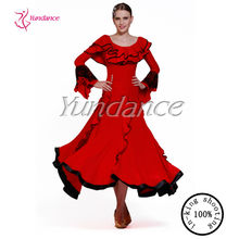 2015 Red long sleeve modern long afghan broom dance stage dance without dress isis wings M-01