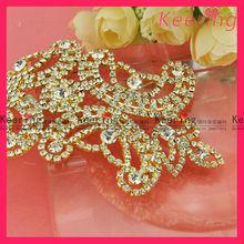 wholesale fashion gold crystal embelishment for lady bag WRE-045