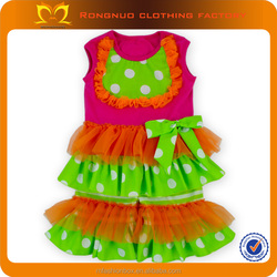 2015 Newest Designs Kids Clothes Persnickety Remake Dots Top Chervon Ruffle Pants Girls Boutique Clothing Manufacturers