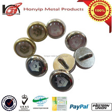 16L(10mm) pearl printed logo alloy metal denim rivets button for jeans garment decoration